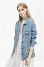 Looks Great With Slouchy Western Denim Jacket