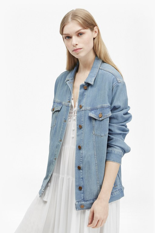 Complete the Look Slouchy Western Denim Jacket
