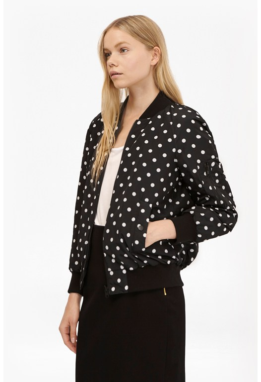 Dotty Spot Reversible Bomber Jacket