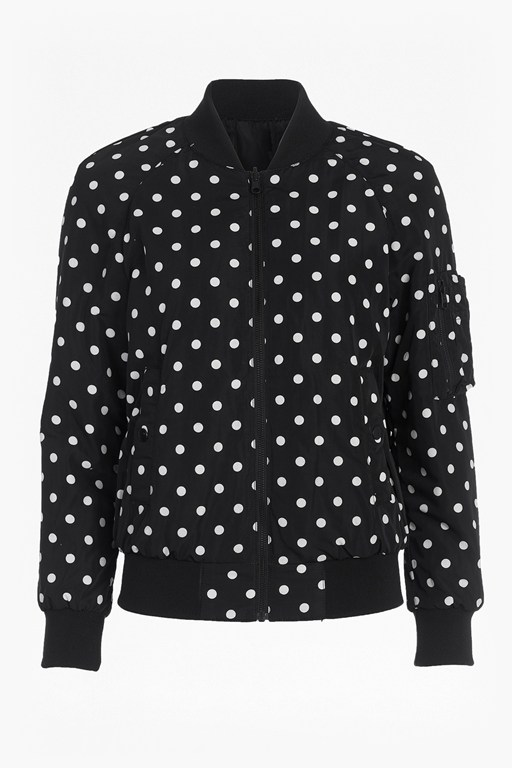 Complete the Look Dotty Spot Reversible Bomber Jacket