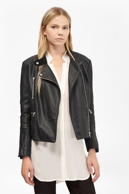 Decade Faux Leather Biker Jacket