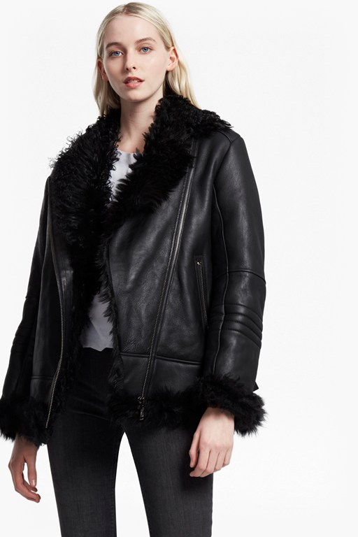 Night Toscana Shearling Leather Jacket