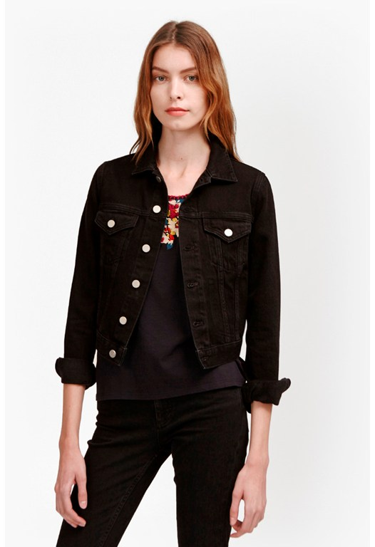Micro Western Cropped Denim Jacket