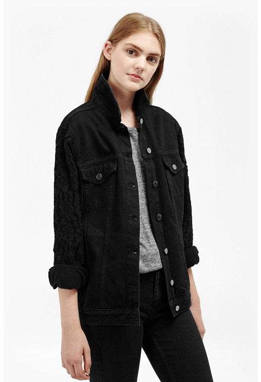 Heron Western Lace Denim Jacket
