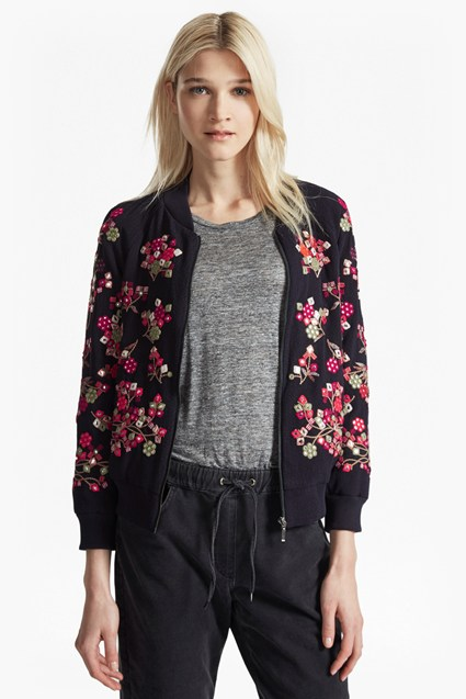 Gilliam Stitch Embroidered Bomber Jacket