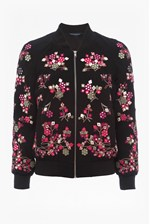 Looks Great With Gilliam Stitch Embroidered Bomber Jacket