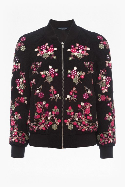 Complete the Look Gilliam Stitch Embroidered Bomber Jacket