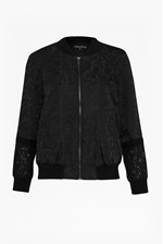 Looks Great With Francisco Lace Jacquard Bomber Jacket