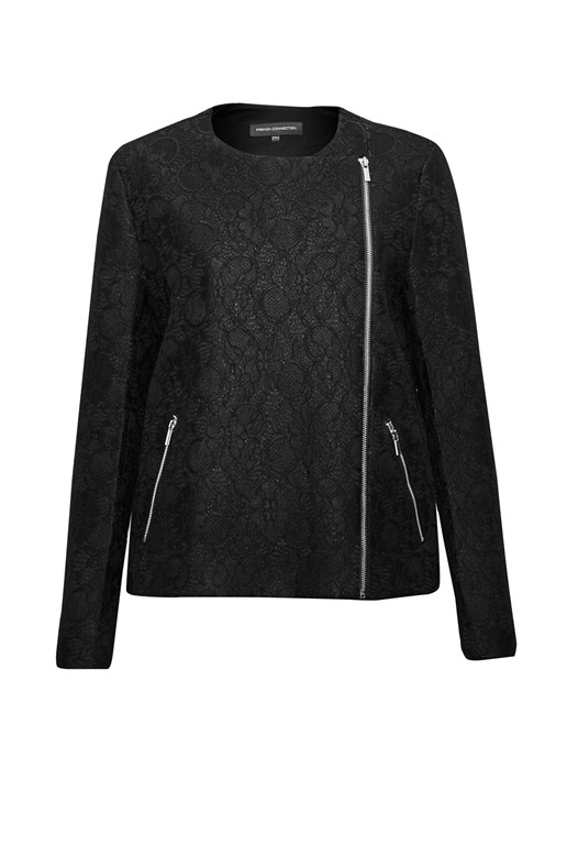 Delunay Lace Stretch Biker Jacket