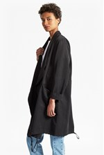 Looks Great With Lulu Drape Duo Neckline Jacket