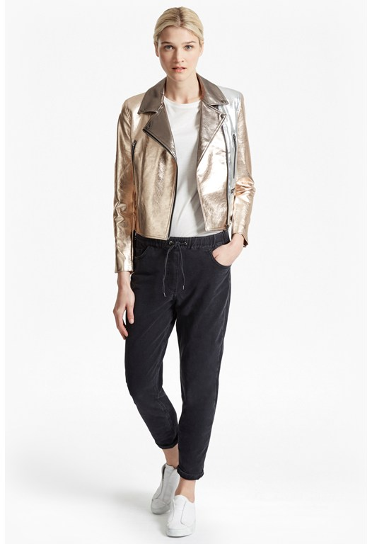 Metallic Biker Jacket