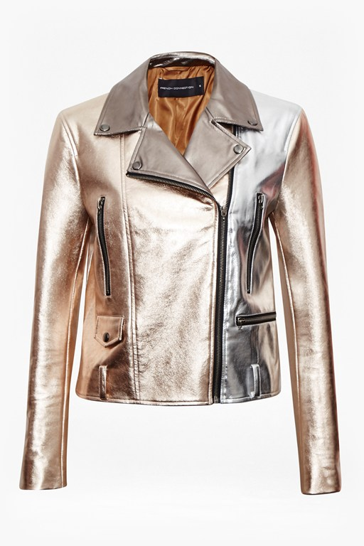 Complete the Look Metallic Biker Jacket