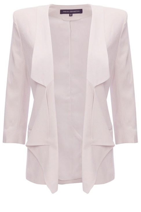 Drape Suit Jacket White