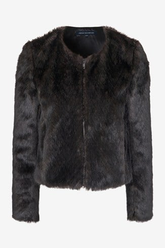 Salute Faux Fur Cropped Jacket