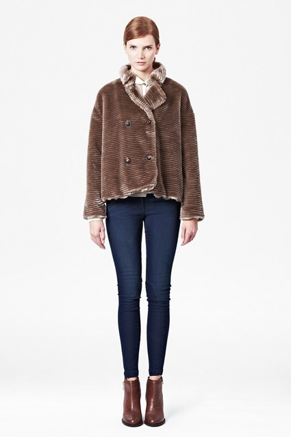 Ripple Faux Fur Jacket