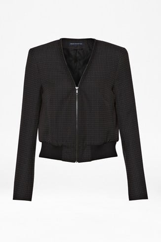 Graph Checked Bomber Jacket
