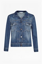 Looks Great With Shrunken Western Denim Jacket