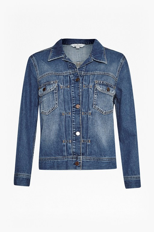 Complete the Look Shrunken Western Denim Jacket
