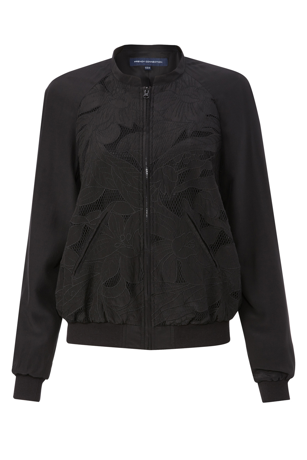 French connection bomber jacket in silk