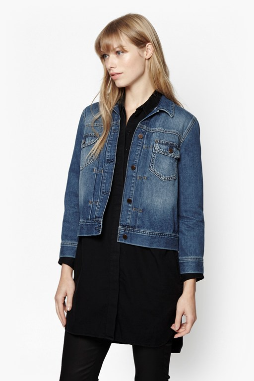shrunken western denim jacket