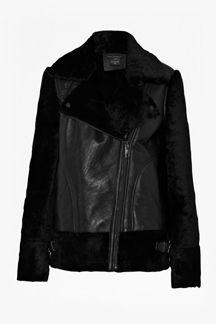 Cara Leather Flight Jacket