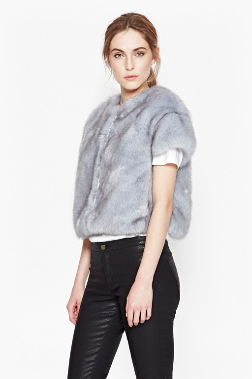 Complete the Look Still Water Faux Fur Jacket