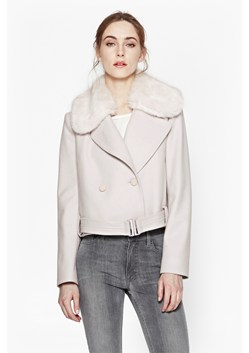 Platform Faux Fur Wool Jacket