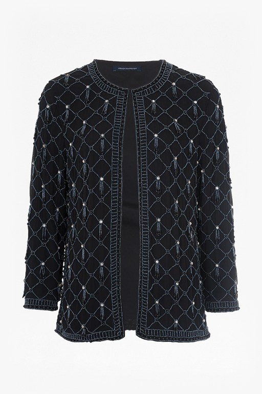 Complete the Look Pearl Cage Embellished Jacket