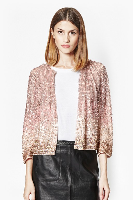 Complete the Look Sunbeamer Ombre Sequin Jacket