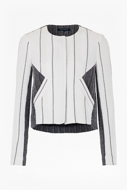 Riviera Collarless Tweed Jacket