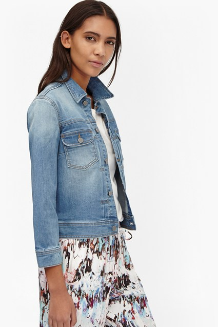 Tiffany Shrunken Denim Jacket