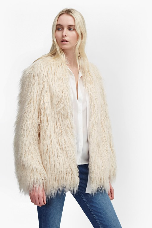 marissa faux fur coat