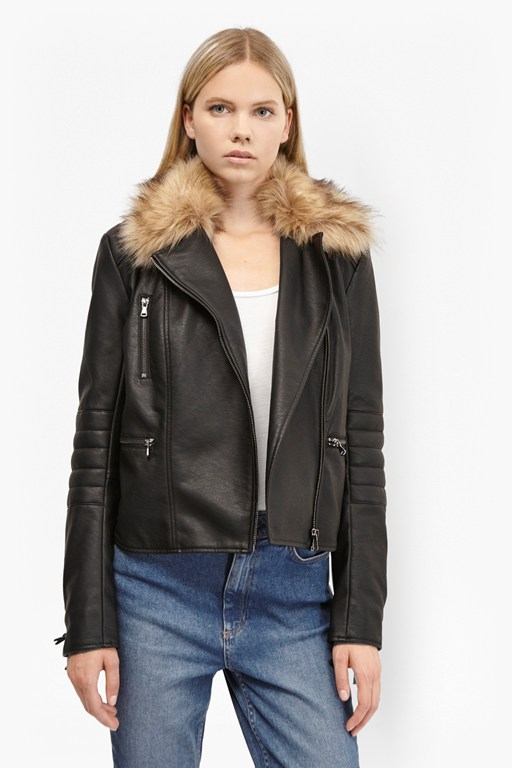 blackbird pu biker jacket