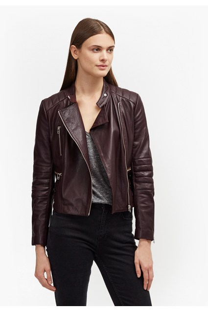 Tobey Leather Biker Jacket