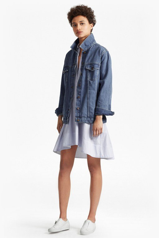 slouchy western boyfriend denim jacket