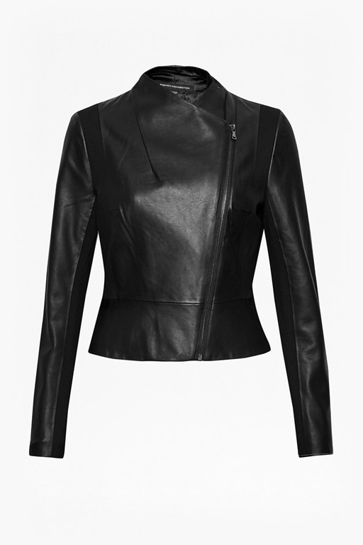 Complete the Look Chariot Wrap Over Faux Leather Jacket