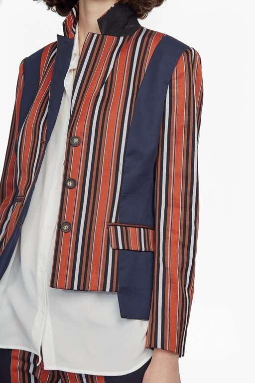 Complete the Look Dovie Stripe Suiting Mix Jacket
