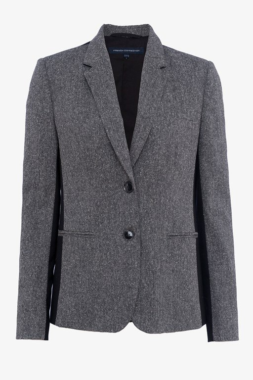 antonia tweed long sleeved classic jacket