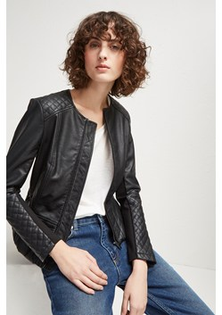 Stephanie Faux Leather Quilted Jacket