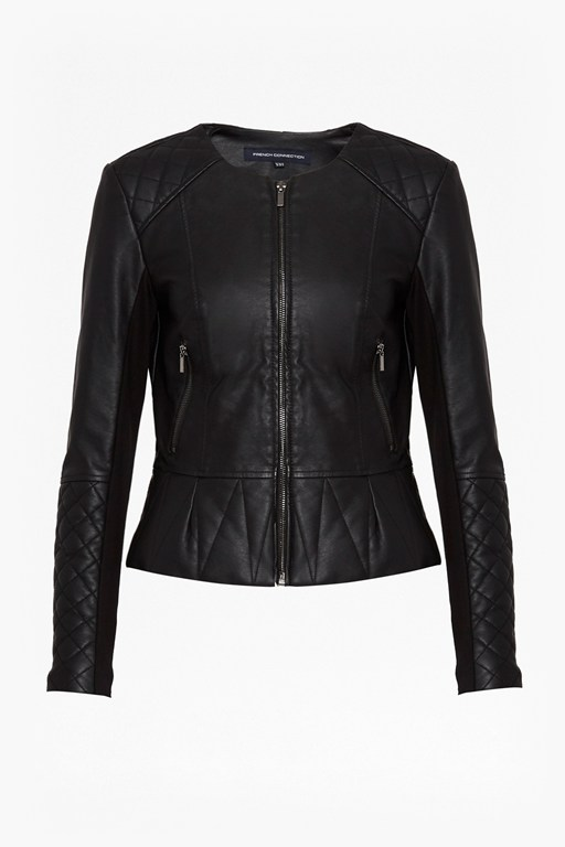 Complete the Look Stephanie Faux Leather Quilted Jacket