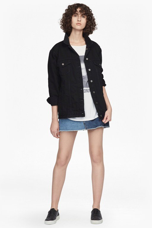 slouchy western denim jacket