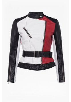 Evia Leather Belted Waist Jacket