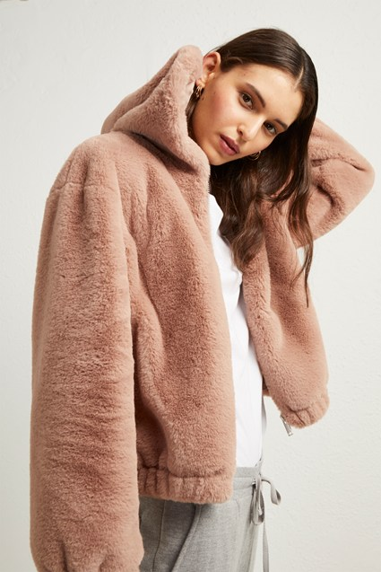 Arabella Faux Fur Hooded Jacket