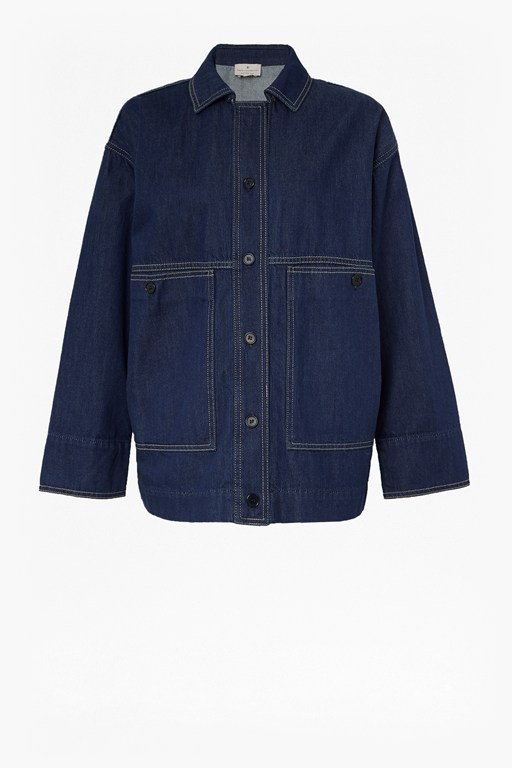 Complete the Look Jule Contrast Stitch Utility Jacket