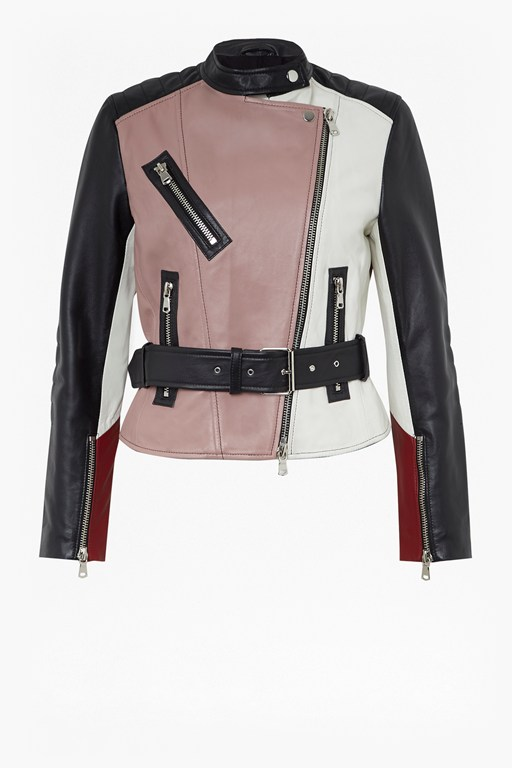 Complete the Look Adela Leather Biker Jacket