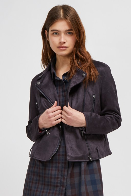 Complete the Look Aimee Suedette Biker Jacket