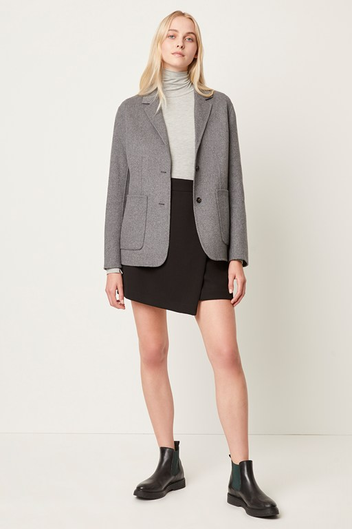 daralicia wool single breasted jacket