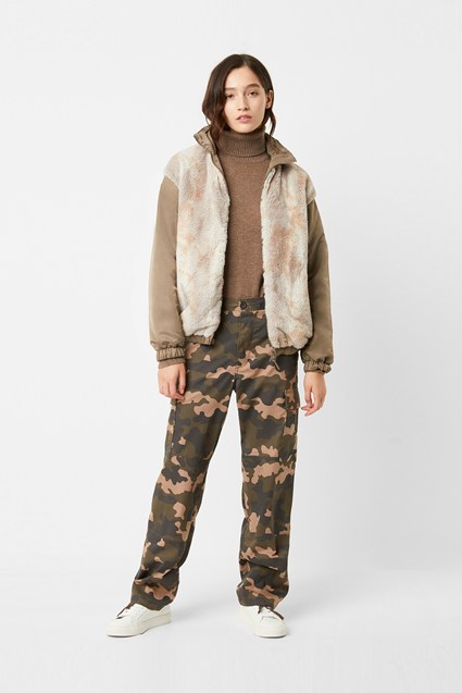 Farin Reversible Faux Fur Bomber Jacket