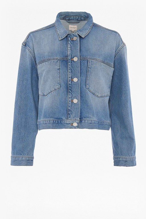 palmira cropped denim jacket