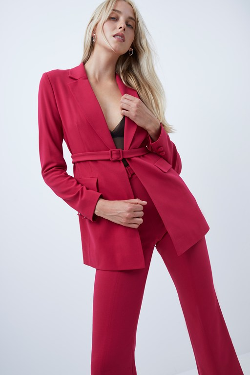 alia whisper belted tailored jacket